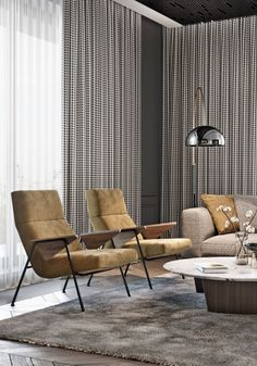 Accent chairs are the perfect paring for a sofa in a living room decor. #livingroom #livingroomdesign #livingroomdecor #livingroominspiration #livingroomidea #interiordesign #homedecor