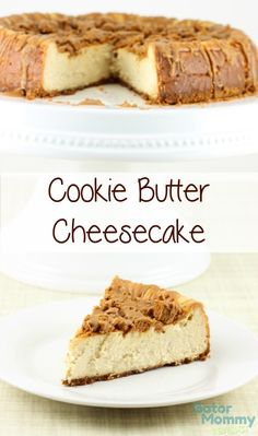 Cookie butter lovers will fall in love with Cookie Butter Cheesecake. Cheesecake is a delicious dessert on its own, but when its combined with cookie butter, its amazing! Cookie Butter Cheesecake features a speculoos cookie crust with a cheesecake toppin Biscoff Cookie Butter, Butter Cookies Recipe, Yummy Cookies, Speculoos Cookies, Speculoos Recipe, Biscoff Recipes, Köstliche Desserts, Delicious Desserts, Yummy Food