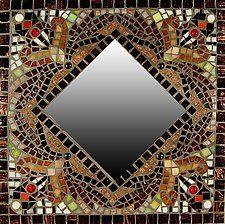 "Falling Leaves by Sandra Bryant and Carl Bryant (Mosaic Mirror) (16"" x 16"")"