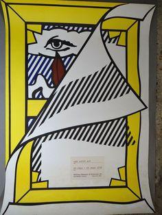 Roy Lichtenstein, Pop Art, affiche originale d exposition, Whitney Museum, 1978