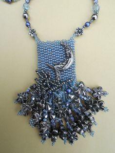 twilight solace gorgeous beaded amulet bag necklace
