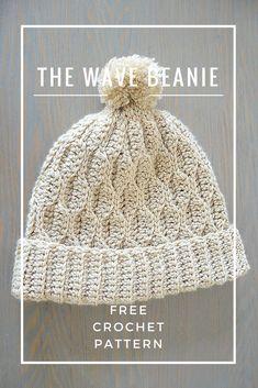 The Wave Beanie - Free crochet beanie pattern