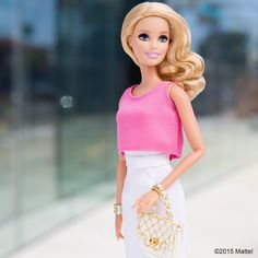 All glammed up for a fabulous week ahead! #barbie #barbiestyle