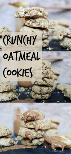 Crunchy Oatmeal Cookies that are #vegan, #glutenfree and made with #quinoa flour for added #protein.