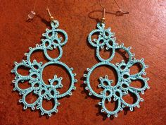 Elegant Tatted Lace Earrings by TimelessTatting on Etsy