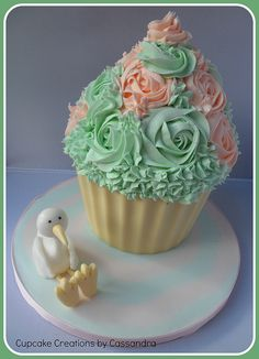 Baby Shower Giant Cupcake | Flickr - Photo Sharing!