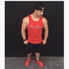 Downtown Campbell: Cali Muscle Signature Tank  Available in red & black  www.CaliMuscle.com #CaliMuscle #CaliMuscleStrong #CaliMuscleApparel #activewear #fitnessmotivation #lifestyle #bodybuilding #npc #fashion #California #WestCoast #keepit100 by calimuscle1