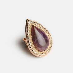 SAMANTHA WILLS - BOHEMIAN BARDOT RING - AMETHYST & ROSE GOLD