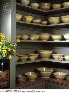 Pantry full of Yellowware, that's my wish. I have some, but absolutely would love more. Also yelloware comes in colors other than yellow, believe it or not.