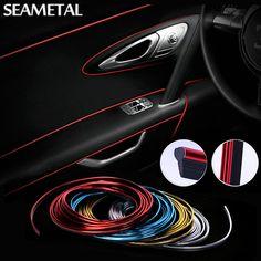 5 M Car Styling 3D Autocollant De Voiture et Décalques Intérieur Décoratif Fil Autocollants Type Décoration Bande De Voiture-Styling Auto accessoires