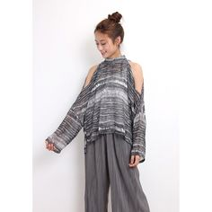 d/s by Drive Store Abtract Pattern Chiffon Top