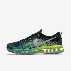 Original Sale Nike Flyknit Air Max Men's Running Shoes Black/Clear Jade/Volt/White 620469-013 Outlet UK