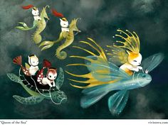 Cats and Purrmaids - Vivien Wu