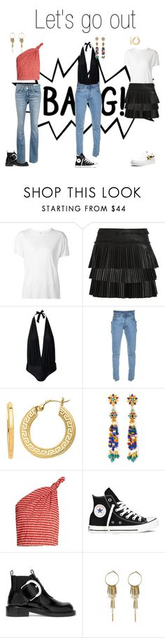 """""""Let's go out"""" by amalie-josefine ❤ liked on Polyvore featuring R13, Isabel Marant, Hot Anatomy, Vetements, BillyTheTree, Jose & Maria Barrera, Rosie Assoulin, Maison Margiela and rag & bone/JEAN"""