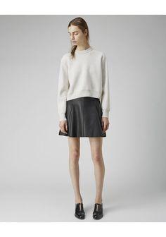 3.1 Phillip Lim Leather Flare Skirt