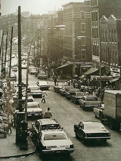 In this photo of 1960's New York City Bronx, one can see the commerce and mass population residing here. In just one decade the population of inner cities declined significantly, resulting in mass decline in business and real estate. This image can be found at www.flickr.com