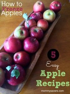 How to Freeze Apples + 5 EASY Apple Recipes | mommysavers.com #apples