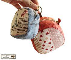 Zippered key pouches sewing pattern two sizes by NapkittenPattern