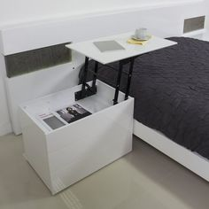 """Whether its serving as a night stand or a side table, the convenient lift-top tray is ideal for breakfast in bed or doing a little online shopping from the comfort of your couch. Lift-top laptop or breakfast tray 2 drawers plus 1 hidden storage compartment Ball wheels rotate 360 degrees 19"""" H x 27.5"""" W x 17.5"""" D/Weight: 86 lbs. Please allow 2-3 weeks for delivery."""