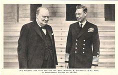 King George VI with Winston Churchill by Miss Mertens, via Flickr George Vi, Winston Churchill, Emperor Of India, The Iron Lady, Last Emperor, History Of Photography, Axis Powers, England, World War Two