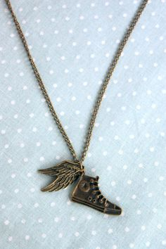Percy Jackson - Hermes shoes - Perseus flying shoes - Greek Mythology - Converse wings necklace on Wanelo