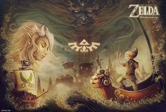 Zelda The Wind Waker art.- finally can play games again after finals are over!