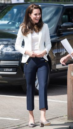 Kate Middleton styles an affordable nautical look