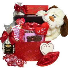 A Big Kiss For You! Plush Puppy Care Package Gift Box - Valentine's Day: Amazon.com: Grocery & Gourmet Food
