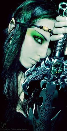 Warrior with Green Eyes. Fantasy Photography.