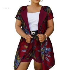 Dashiki Cotton Wax Print African Clothing Top-Shorts Set For Women African Clothing For Women Top-Shorts Set Dashiki Cotton Wax Print For Ladies African Fashion Ankara, Latest African Fashion Dresses, African Print Fashion, African Wear, African Style, Short African Dresses, African Blouses, African Print Dresses, African Attire For Ladies