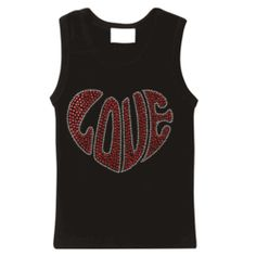 """Who doesn't love the word """"LOVE"""", especially when it's splashed all over one of the coolest tank tops around? **A Lollipop Moon exclusive!!"""