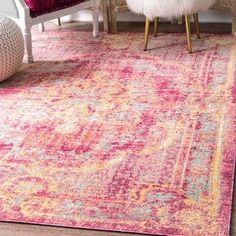 Incredible Shop for nuLoom Traditional Vintage Majestic Floral Medallion Pink Rug (5'6×8'3). Get free shipping at Overstock.com – Your Online Home Decor Outlet Store! Get 5% in rewards with Club O! ..