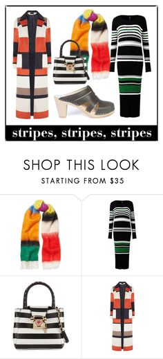 """""""Stripes, stripes, stripes"""" by maguba ❤ liked on Polyvore featuring Loewe, Betsey Johnson, Dorothy Perkins and Maguba"""