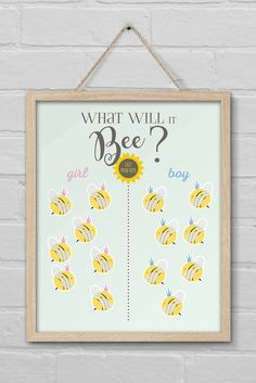 Bumble Bee Baby Shower Vote Sign, What Will it Bee Sign, Bumblebee Gender Reveal Decor, Baby Gender Reveal Party Printable - New Deko Sites Gender Reveal Themes, Bee Gender Reveal, Gender Reveal Party Decorations, Baby Gender Reveal Party, Gender Party, Baby Shower Signs, Bee Theme, Reveal Parties, Babyshower