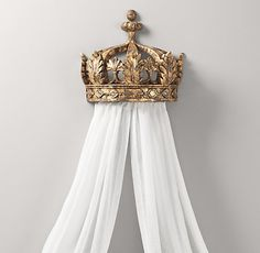 Demilune Gilt Crown Bed Canopy   Accents   Restoration Hardware Baby & Child