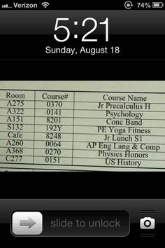 Set your lock screen as your class schedule.