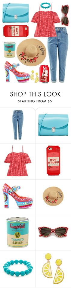 """Alice"" by elshakalaka ❤ liked on Polyvore featuring The Cambridge Satchel Company, Anna October, Kate Spade, Moschino, Ligne Blanche, Kim Rogers and Celebrate Shop"