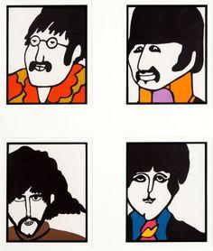 Yellow Submarine Beatles Framed Stationary Print Group