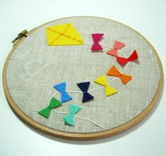 bright kite embroidery hoop
