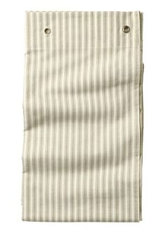 TICKING STRIPE SHOWER CURTAIN by TOAST