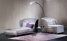 """Céline"" Chaise Bed by ""Flou"" with removable cover. Also available quilted. Design by Riccardo Giovanetti. Various fabric options available. #Bedroom #InteriorDesign #HomeDecor #Design #Arredamento #Furnishings"