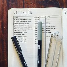Bullet Journal®️️ Show & Tell: Laura of /bujo/.auslife walks us through her setup in her #BulletJournal. Waiting On Log as inspired by Tiny Ray of Sunshine.