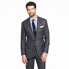 Ludlow two-button suit jacket in Italian nailhead wool