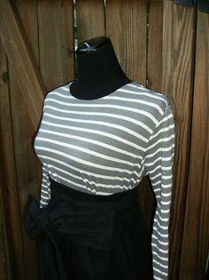 Organic Cotton Striped Shirt Gray Striped Shirt long by jennipink