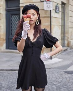 Vestidos Retro, Mini Vestidos, Fall Dresses, Girls Dresses, Mini Dresses, Tumblr Outfits, Aesthetic Clothes, Vintage Dresses, Lace Dress