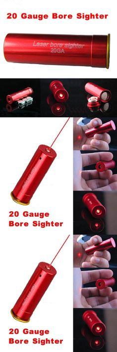 [Visit to Buy] MIZUGIWA 20 GAUGE 20 GA Cartridge Red Dot Laser Bore Sighter Boresighter Red Sighting Sight Copper Shotgun Hunting Caza #Advertisement