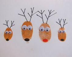 Life with the Depews: Fingerprint Reindeer