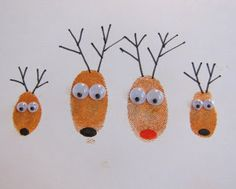 Life with the Depews: Fingerprint Reindeer