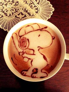 Snoopy latte art