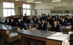 """aula en Japón """"La verdad es que las aulas en sí no tienen mucho en partícular respecto a las aulas de otros países"""""""